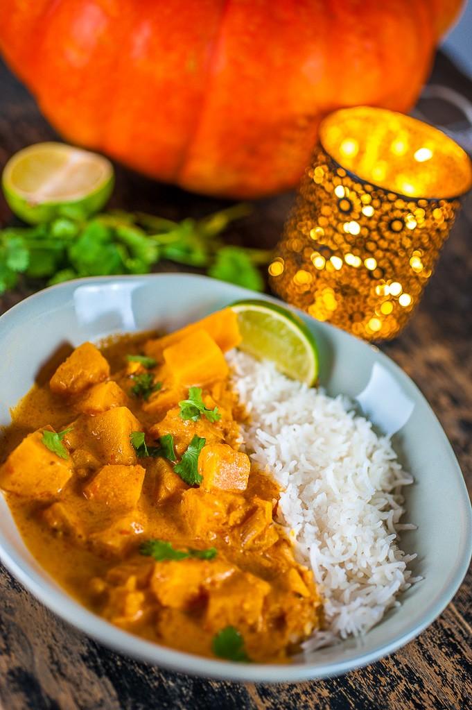 Curry végétarien au potiron