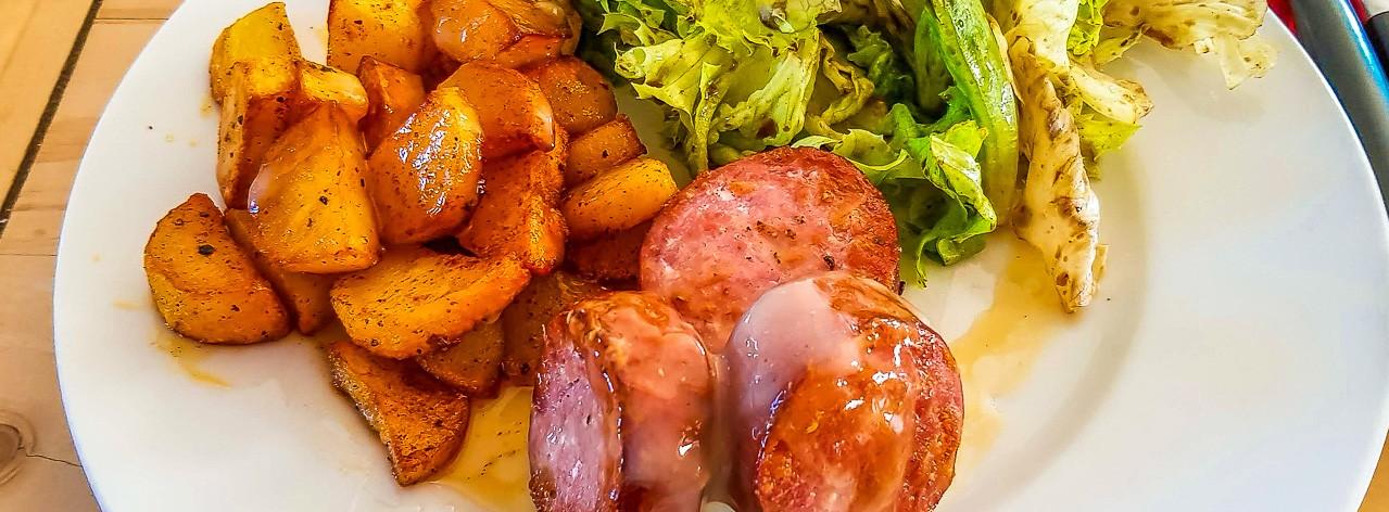 Saucisse de Morteau et cancoillotte