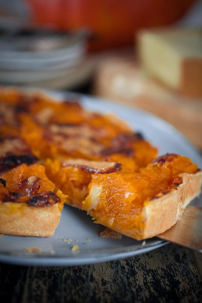 Délicieuse Tarte au potiron et fromage beaufort
