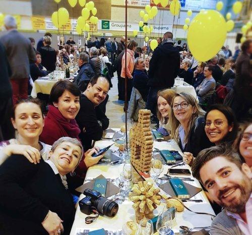Le diner de la percée du vin jaune en 2019, avec les blogeurs