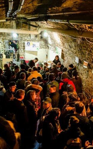 Caveau de Poligny, pendant la Percée du vin jaune en 2019