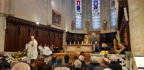Messe à Poligny, en  2019 de La Percée du Vin Jaune