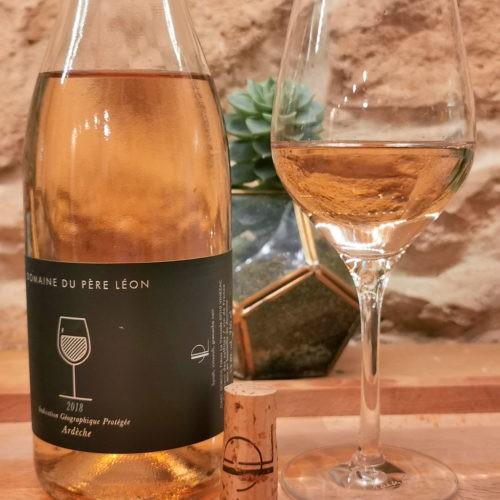 igp Ardeche, rosé domaine du père léon 2018