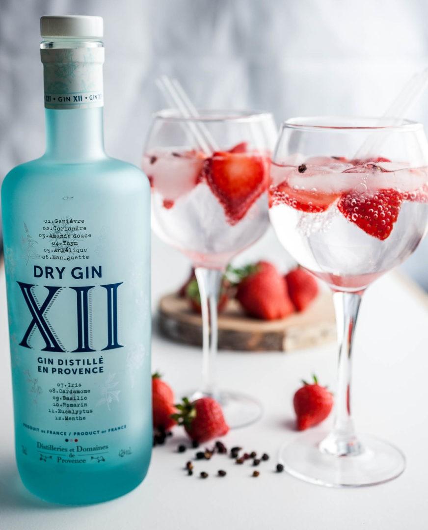 Mon délicieux Gin XII tonic, fraise et poivre- du sishuan