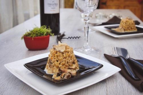 délicieux risotto épeautre aux champignons