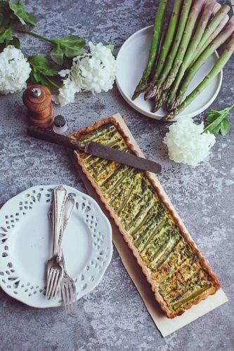 recette de ma tarte allégée aux asperges vertes-