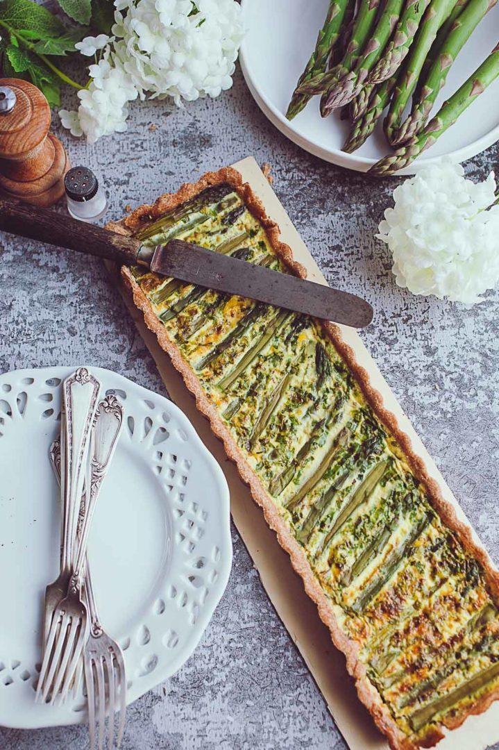 tarte allégée aux asperges vertes-