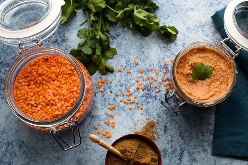 recette de la Délicieuse tartinade lentilles corail façon houmous