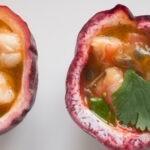 Crevettes et fruit de la passion