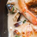 Noix de Saint Jacques et crevettes sauce coco
