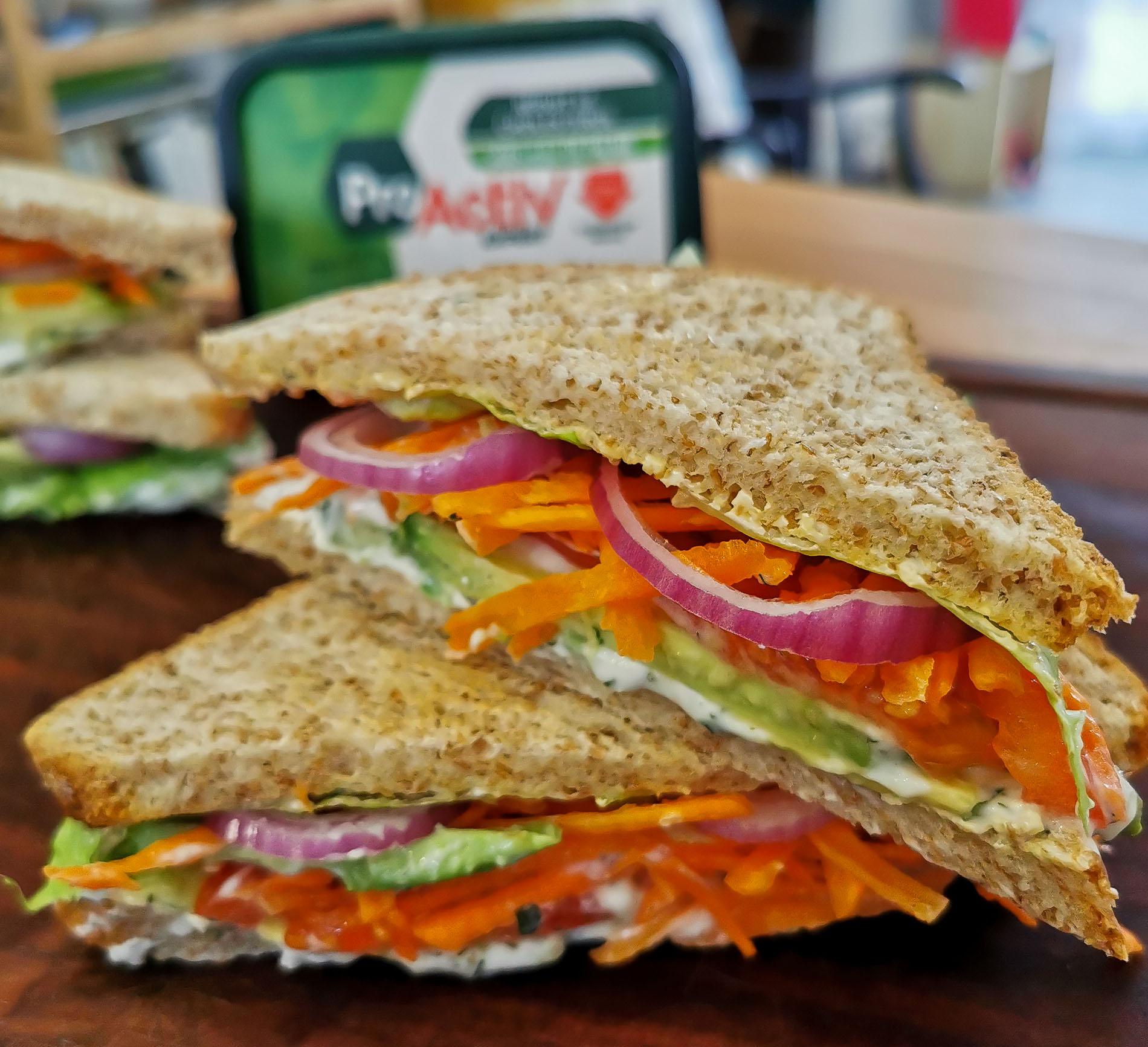 club sandwich végétarien facile à faire