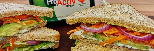 Mon club sandwich végétarien