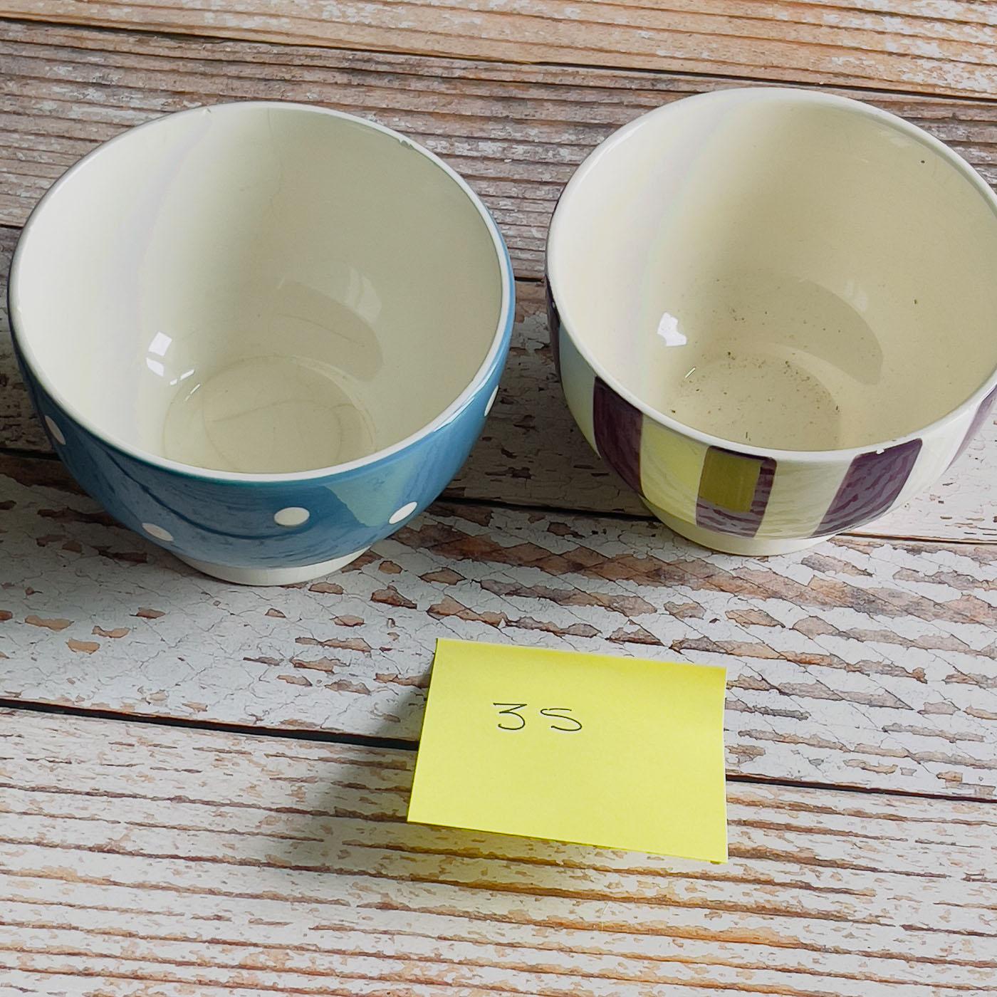 bols céramiques bleu et violet