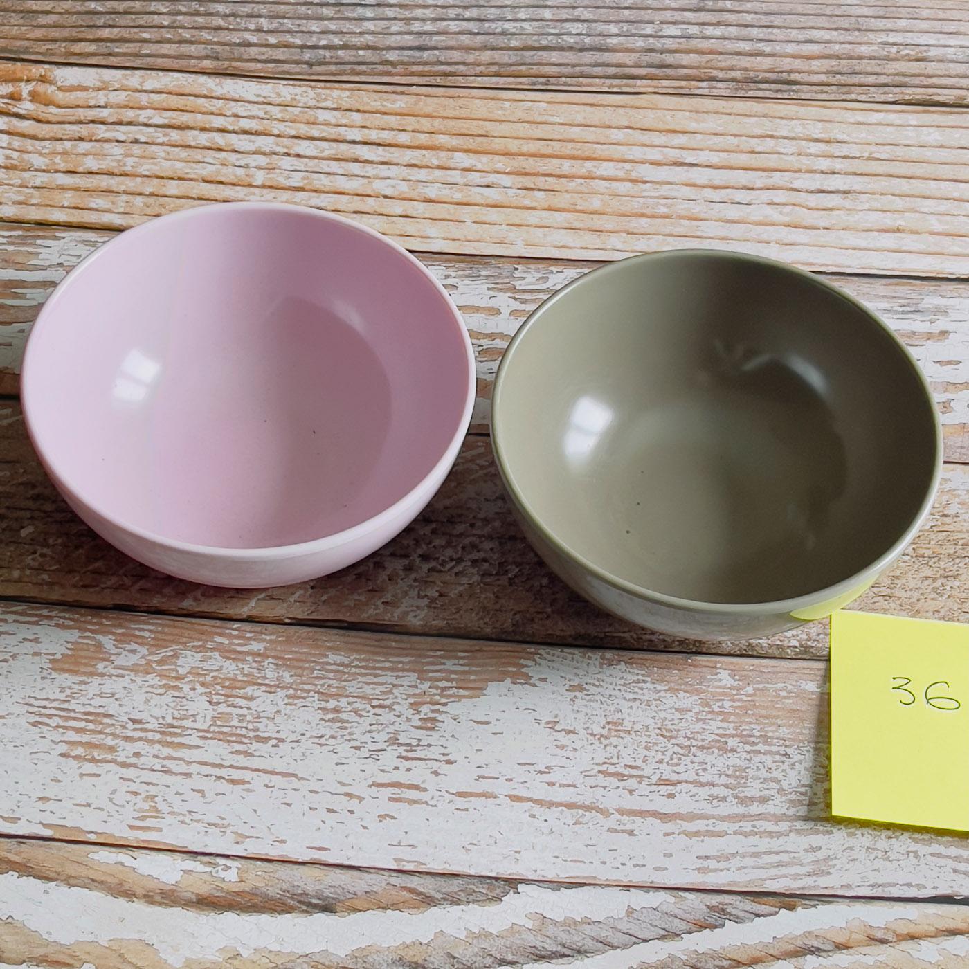 bols en melamine gris et rose