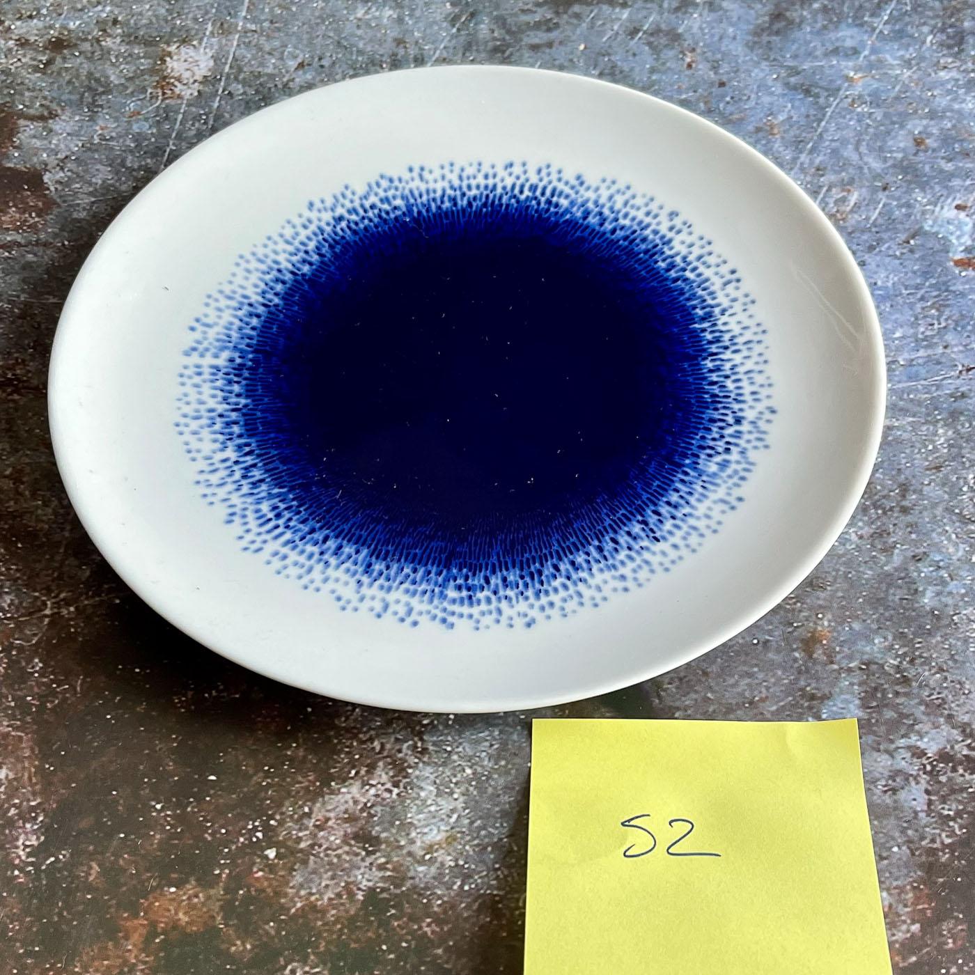 52 petite assiette porcelaine bleue